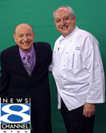 Chef Silvio with WTNH-TV's Dr. Mel